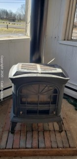 Heat-N-Glo Townsend Faux Stove Gas Fireplace