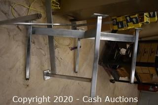 """(4) 25"""" Round Tables w/ Stainless Bases"""
