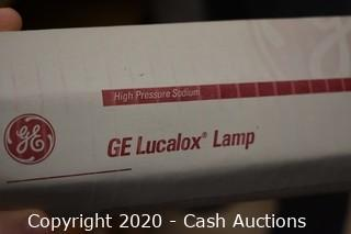 (9) GE 100 Watt Lucalox Sodium Light Bulbs
