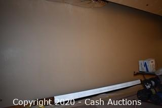 Projector Screen w/ Wooden Frame