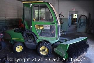 John Deere 1420 w/ Sweeper & Snowblower Attachments