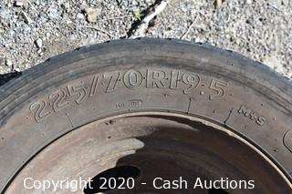 (4) Rims & Tires from a Ford F-550