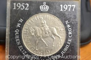 1952-1977 Queen Elizabeth II Silver Jubilee Crown
