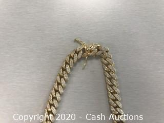 10kt yellow gold Cuban link curb link chain