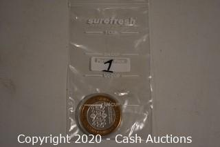 Gold River Casino Collectible .999 Silver Token