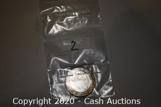 Westward-Ho Casino Collectible .999 Silver Token