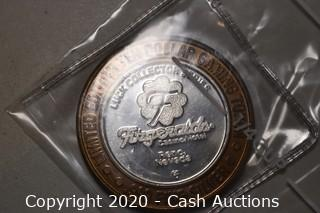 Fitzgeralds Casino Collectible .999 Silver Token