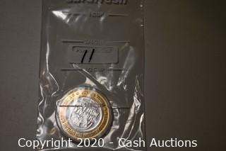 Buffalo Bill's Casino Collectible .999 Silver Token