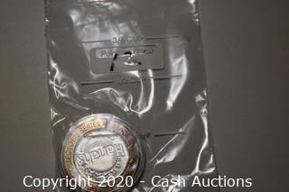 Harrahs Jazz & Blues Collectible .999 Silver Token