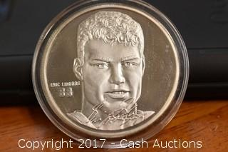 1.5 Troy oz .999 Silver NHL Eric Lindros Limited Edition Elite Hockey Coin