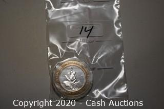 Caesars Tahoe Collectible .999 Silver Token