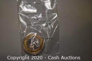 1995 Foxwoods Casino Collectible .999 Silver Token