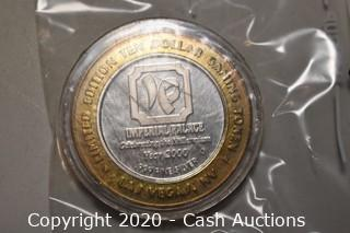 """2000 Imperial Palace """"1914 Rolls Royce Silver Ghost"""" Collectible .999 Silver Token"""