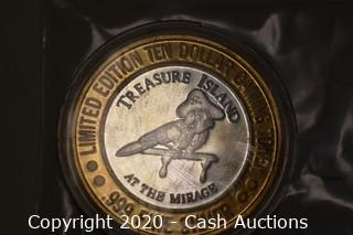 Treasure Island Collectible .999 Silver Token