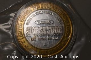 Binion's Horseshoe Collectible .999 Silver Token