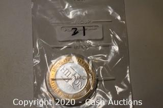 Las Vegas Hilton Collectible .999 Silver Token