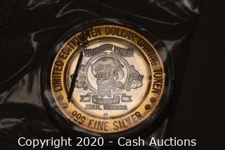 Whiskey Pete's Casino Collectible .999 Silver Token