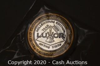 2001 Luxor Collectible .999 Silver Token