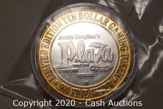 Jackie Gaughan's Plaza Hotel Collectible .999 Silver Token
