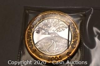 1994 Foxwoods New Hampshire Collectible .999 Silver Token