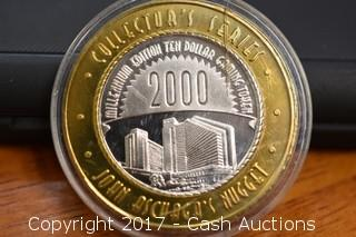 1955-2000 Gilded .999 Silver Nugget Collectors Gaming Token