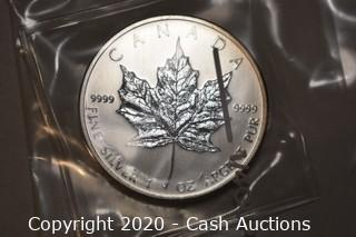 2011 Uncirculated .9999 Silver Maple Leaf