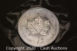 2014 Uncirculated .9999 Silver Maple Leaf