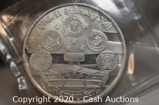 .999 Silver September 11th 2001 Memorial Coin