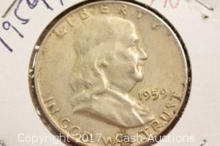 1959 Franklin Half Dollar