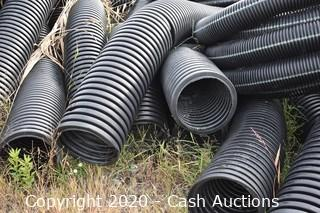 Large Lot of Coiled Irrigation / Drainage Tubing