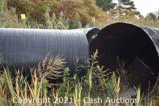 """Lot of 15"""", 18"""", 24"""" Irrigation / Drainage Pipe"""