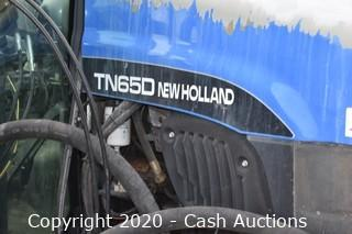 2001 New Holland TN650 Tractor w/ Flail Mower