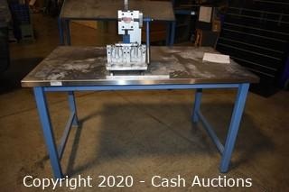 Stainless Steel Top Workbench w/ Aluminum Press