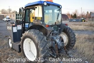 2001 New Holland TN65D Tractor w/ Alamo Flail Mower SN: 1222139