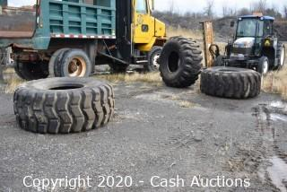 Lot of (3) Loader/Excavator Tires