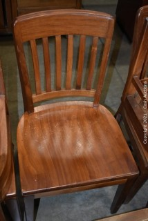 (37) W.H. Gunlocke Wooden Chairs