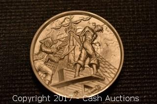 "Privateer Series ""The Plank"" 2 Troy oz .999 Silver Coin"