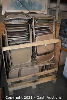 Approx. 75-80 Metal Folding Chairs