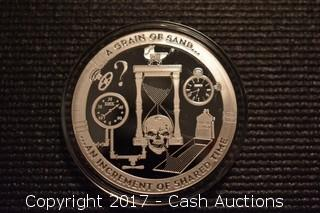 "CSW T.I.M.E. Series #2 ""Grain of Sand"" 1 Troy oz .999 Silver Proof"