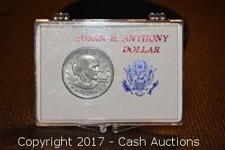 1979 Susan B. Anthony Dollar Coin in Case