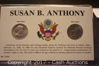 (2) Susan B. Anthony Dollar Coins