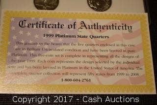 1999 Platinum Quarter Set